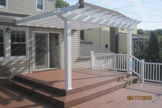 white vinyl pergola Bloomfield NJ