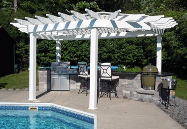 Custom pergolas by the pool
