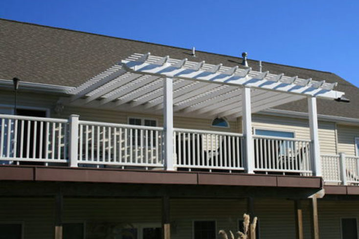 16X20 foot pergola for large deck