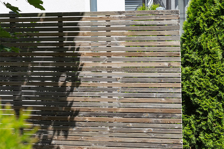 backyard privacy wall