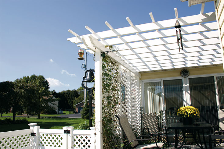 attached amish built pergola