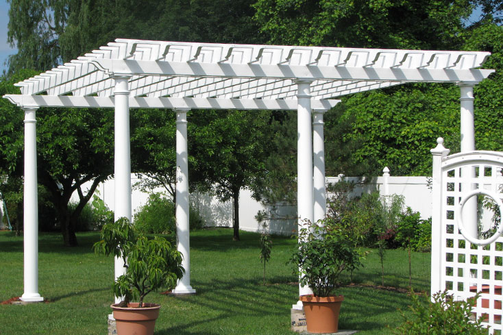 free standing amish built pergola