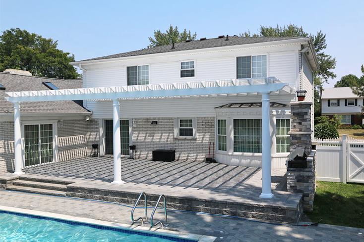 pool pergola design for deck or patio
