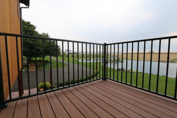 tuscany black aluminum deck railings