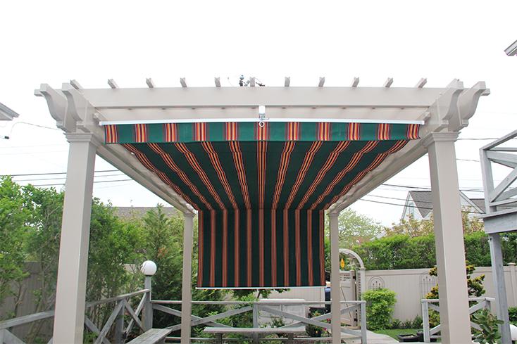 deluxe pergola with canopy