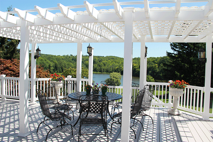 large free-standing pergola cost