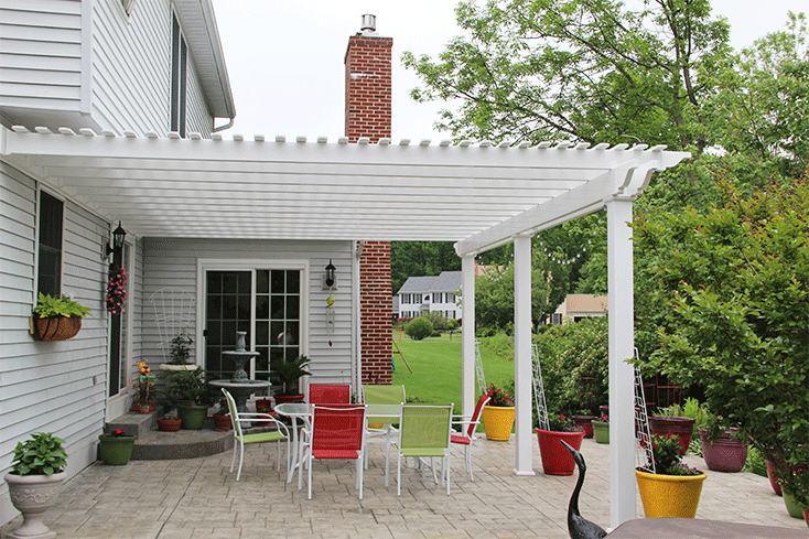 medium-sized attached pergola cost