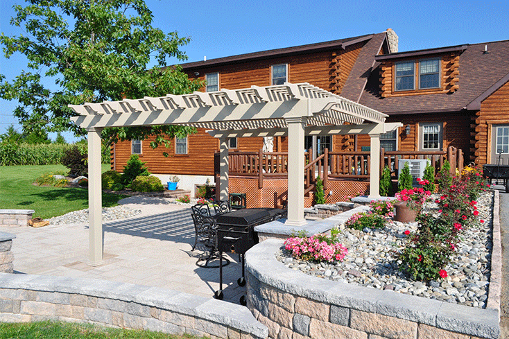 small free-standing pergola cost