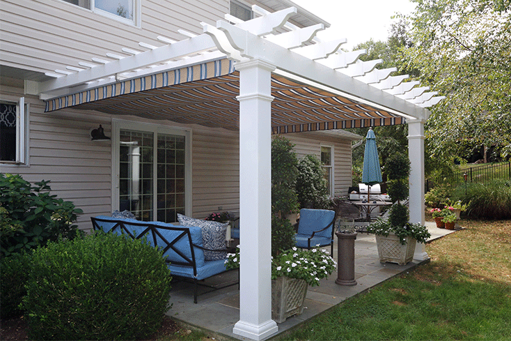 attached tuscany inexpensive pergola