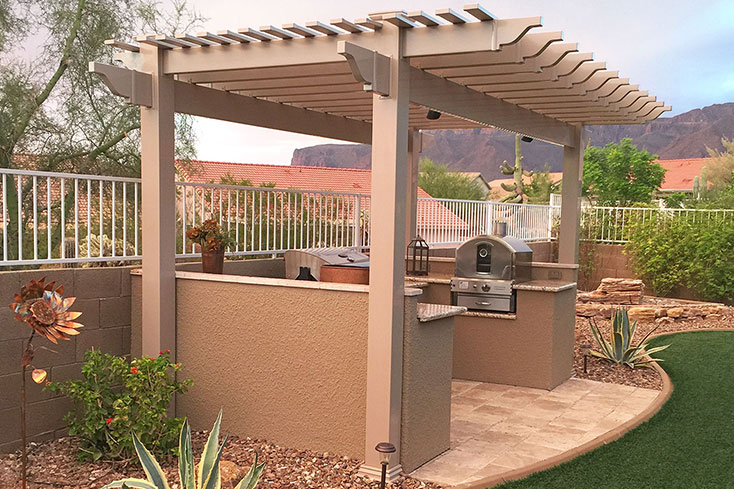 free standing garden spot inexpensive pergola