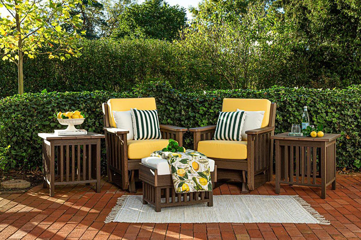 luxury garden ideas with outdoor furniture