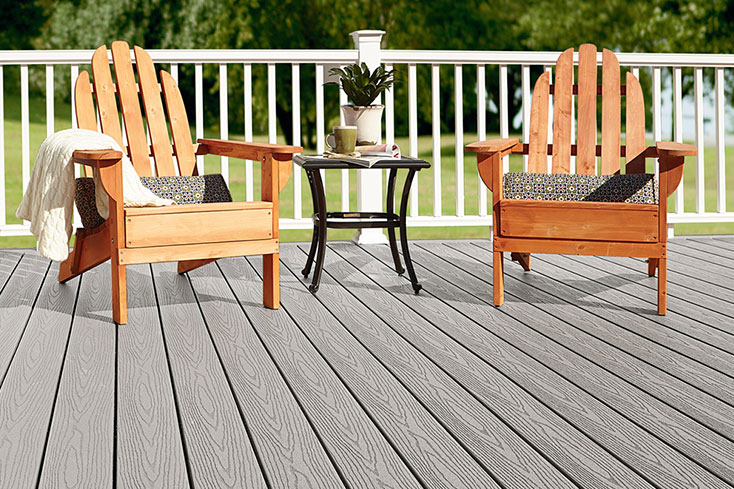 designing a new backyard with composite deck boards