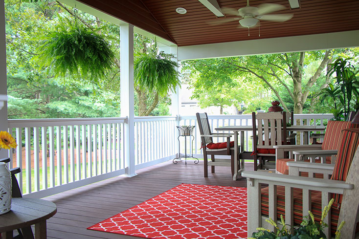 how to design a new backyard seating area