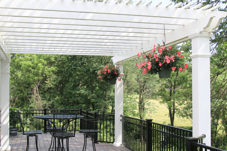 low-maintenance pergola