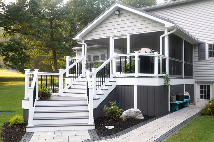 deck upgrade idea with new railing
