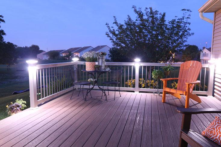 outdoor living trend with deck lighting