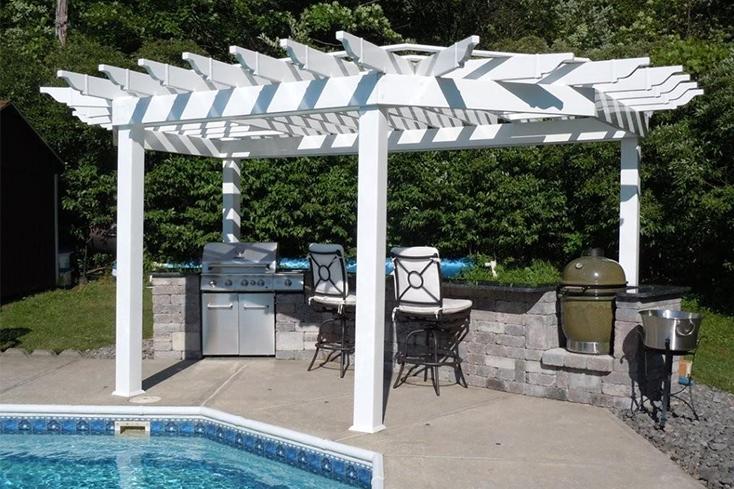yard upgrade idea with outdoor kitchen