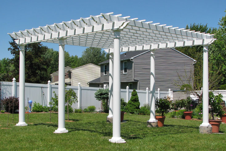 building a pergola on grass